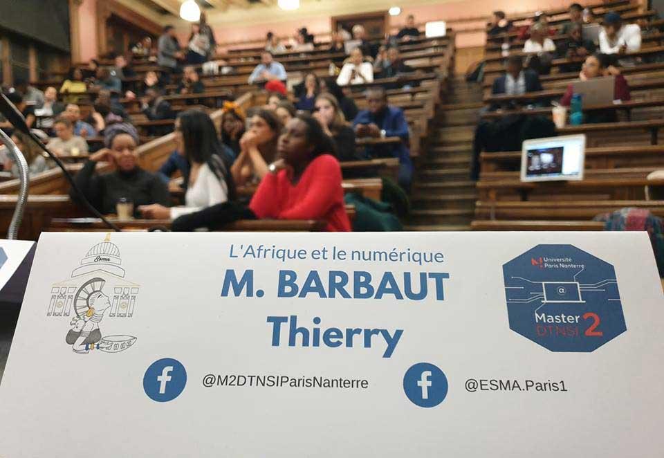 Master Sorbonne numérique Thierry BARBAUT