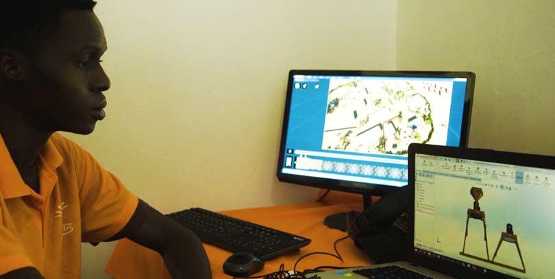 Modélisation de machines agricoles en 3D en Afrique de l'Ouest